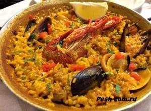 Барселона, Паэлья с морепродуктами, барселона ком